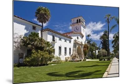 Beautiful Courthouse Santa Barbara California-George Oze-Mounted Photographic Print