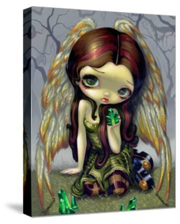 Angel with Emeralds-Jasmine Becket-Griffith-Stretched Canvas Print
