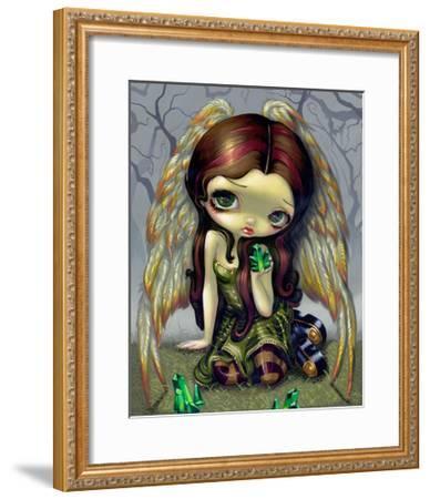 Angel with Emeralds-Jasmine Becket-Griffith-Framed Art Print