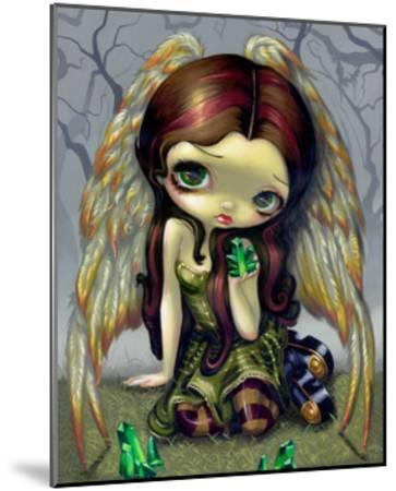 Angel with Emeralds-Jasmine Becket-Griffith-Mounted Art Print