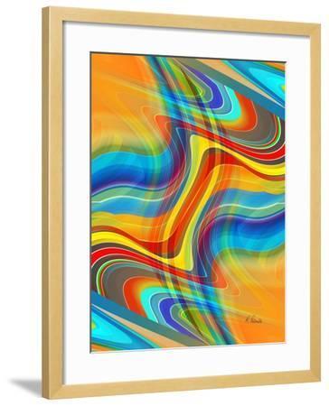 Yellow Road-Ruth Palmer-Framed Art Print