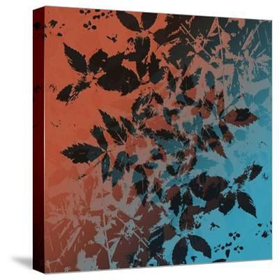 Black Leaves-Ruth Palmer-Stretched Canvas Print