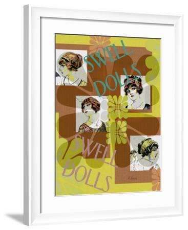 Swell Dolls-Ruth Palmer-Framed Art Print