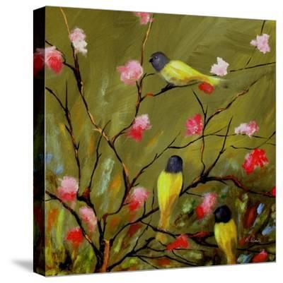 Three Tweets-Ruth Palmer-Stretched Canvas Print