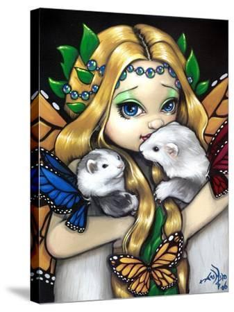 Fairy Ferret Picture : Two Fae Ferrets-Jasmine Becket-Griffith-Stretched Canvas Print