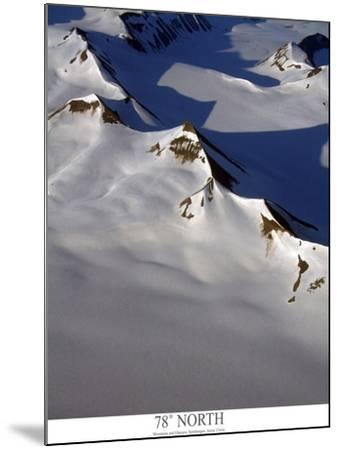 aerial view of snow covered mountain range with glaciers-AdventureArt-Mounted Photographic Print