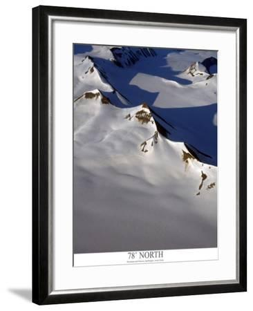 aerial view of snow covered mountain range with glaciers-AdventureArt-Framed Photographic Print