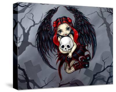 Skull Stealer - a Gothic Angel-Jasmine Becket-Griffith-Stretched Canvas Print