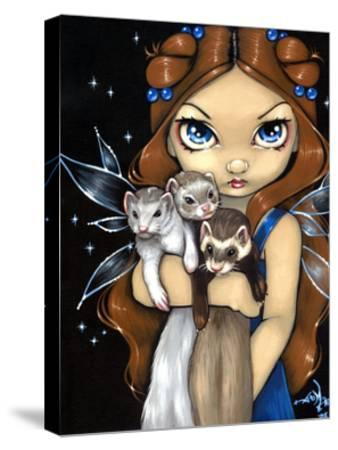 Armful of Ferrets - Ferret Art-Jasmine Becket-Griffith-Stretched Canvas Print