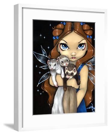 Armful of Ferrets - Ferret Art-Jasmine Becket-Griffith-Framed Art Print