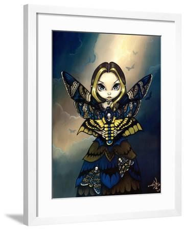 Moth Queen Fairy:   Acherontia atropos-Jasmine Becket-Griffith-Framed Art Print