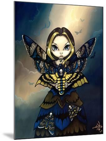 Moth Queen Fairy:   Acherontia atropos-Jasmine Becket-Griffith-Mounted Art Print