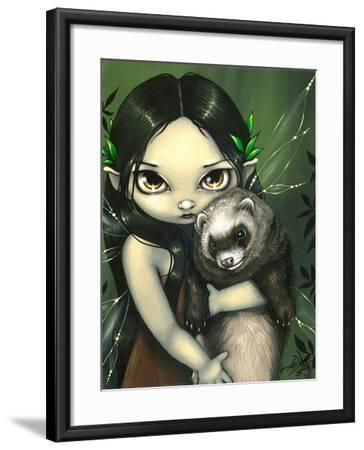 A Ferret and his Fairy-Jasmine Becket-Griffith-Framed Art Print