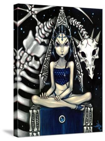 Queen of Bones (Bone Dragon)-Jasmine Becket-Griffith-Stretched Canvas Print