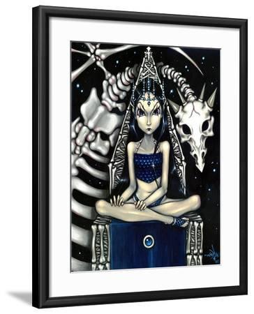 Queen of Bones (Bone Dragon)-Jasmine Becket-Griffith-Framed Art Print