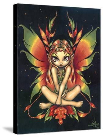 Autumn Night Fairy-Jasmine Becket-Griffith-Stretched Canvas Print