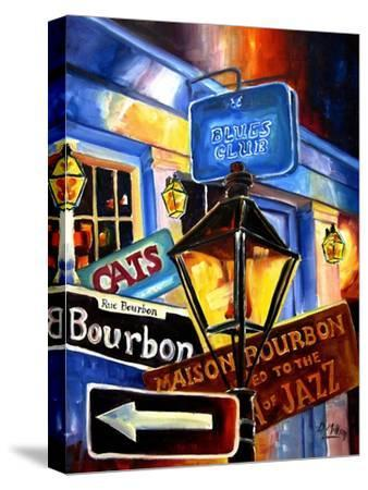 Signs of Bourbon Street-Diane Millsap-Stretched Canvas Print