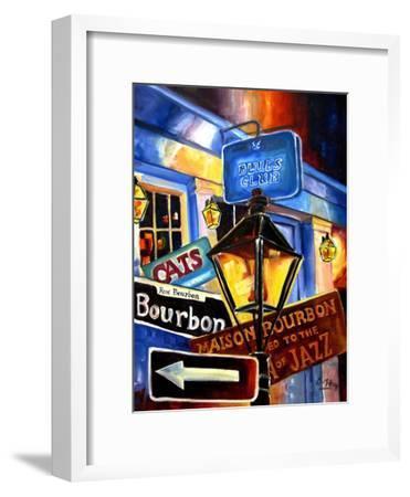 Signs of Bourbon Street-Diane Millsap-Framed Art Print