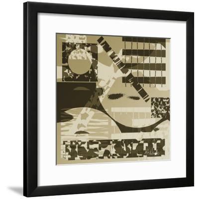 Grainy Neutrals-Ruth Palmer-Framed Art Print