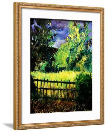 Old fence-Pol Ledent-Framed Art Print
