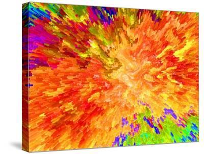 Color Detonation-Ruth Palmer 3-Stretched Canvas Print