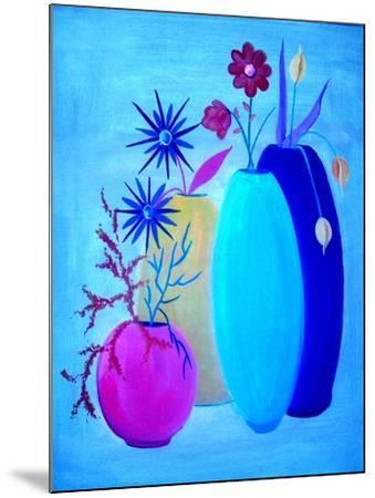 Funky Floral Blue-Ruth Palmer Digital-Mounted Art Print