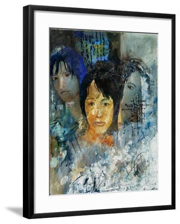 Three women's faces-Pol Ledent-Framed Art Print