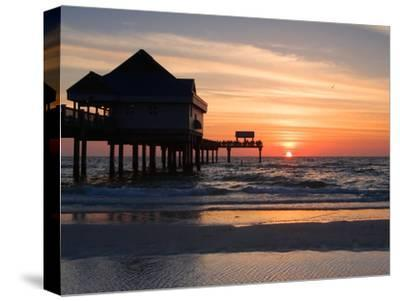 Clearwater Beach Sunset, Florida-George Oze-Stretched Canvas Print