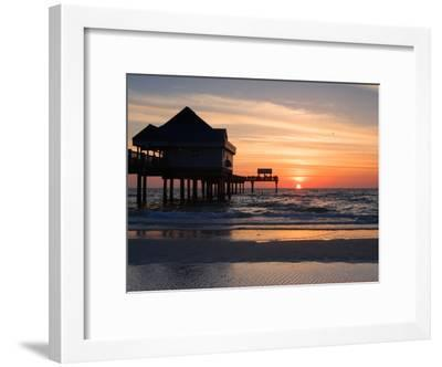 Clearwater Beach Sunset, Florida-George Oze-Framed Photographic Print