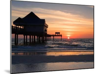 Clearwater Beach Sunset, Florida-George Oze-Mounted Photographic Print