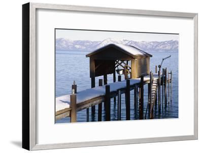 Boathouse on Lake Tahoe, California-George Oze-Framed Photographic Print