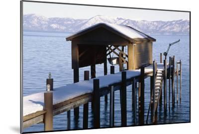 Boathouse on Lake Tahoe, California-George Oze-Mounted Photographic Print