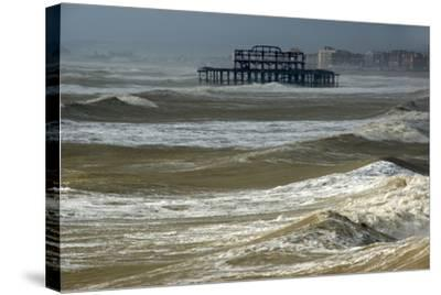 Brighton Storm-Charles Bowman-Stretched Canvas Print