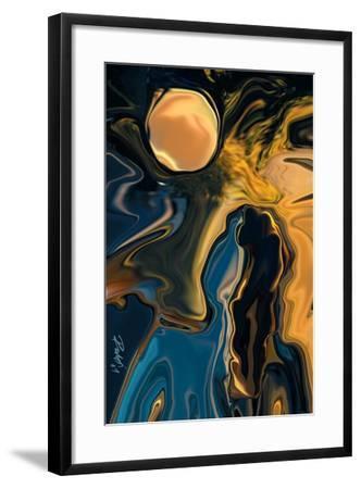 Moon and Fiancee-Rabi Khan-Framed Art Print