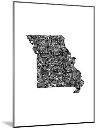 Typographic Missouri-CAPow-Mounted Art Print