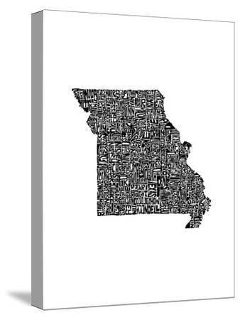 Typographic Missouri-CAPow-Stretched Canvas Print