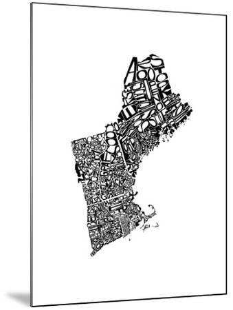 Typographic New England-CAPow-Mounted Art Print