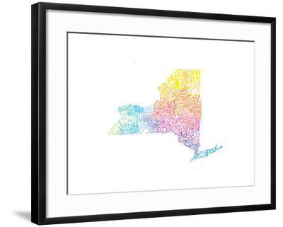 Typographic New York Spring-CAPow-Framed Art Print