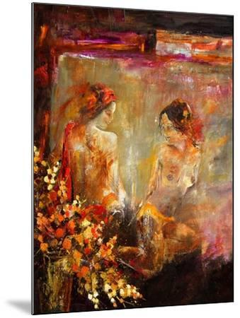 Two nudes-Pol Ledent-Mounted Art Print