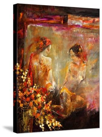 Two nudes-Pol Ledent-Stretched Canvas Print