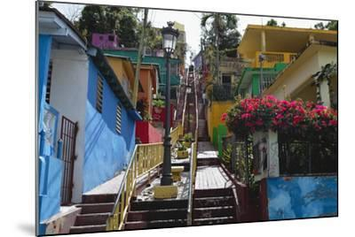 Colorful Houses, Gurabo, Puerto Rico-George Oze-Mounted Photographic Print