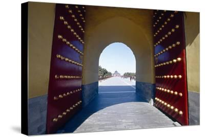 Gate to the Temple of Heaven, Beijing, China-George Oze-Stretched Canvas Print
