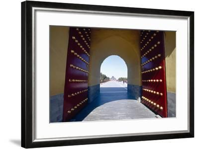 Gate to the Temple of Heaven, Beijing, China-George Oze-Framed Photographic Print