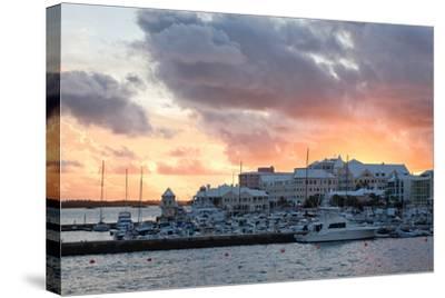 Hamilton Harbor Sunset, Bermuda-George Oze-Stretched Canvas Print