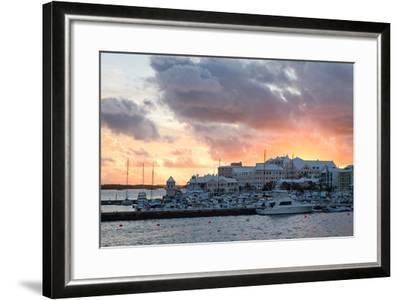 Hamilton Harbor Sunset, Bermuda-George Oze-Framed Photographic Print
