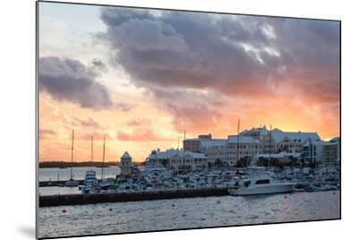 Hamilton Harbor Sunset, Bermuda-George Oze-Mounted Photographic Print
