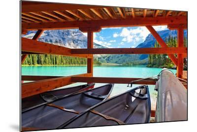 Boathouse on Emerald Lake, Canada-George Oze-Mounted Photographic Print