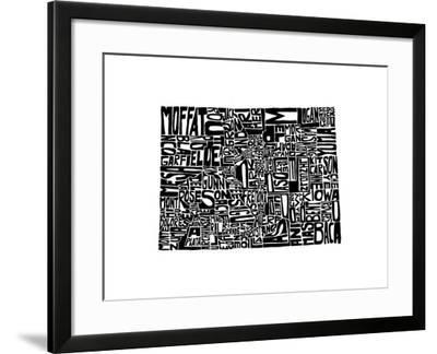 Typographic Colorado-CAPow-Framed Art Print