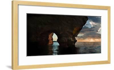 Apostle Islands Sea Cave-Steve Gadomski-Framed Photographic Print