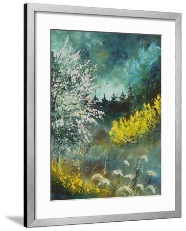 Hawthorne and brooms-Pol Ledent-Framed Art Print